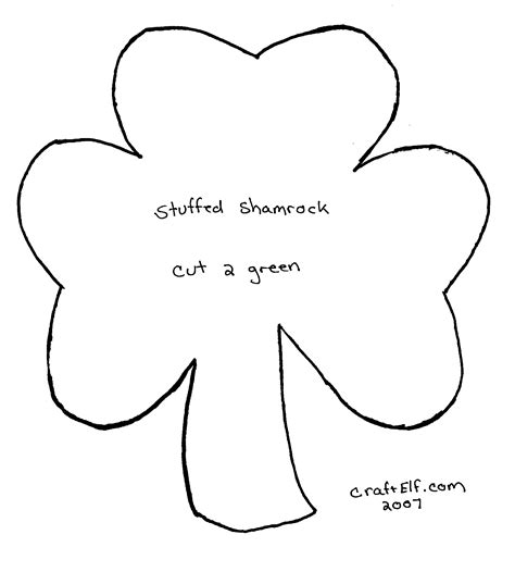 printable shamrock shapes elf cut out pattern new calendar template site