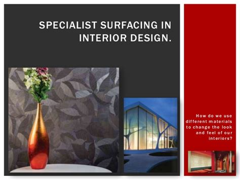 specialist surfacing in interior design