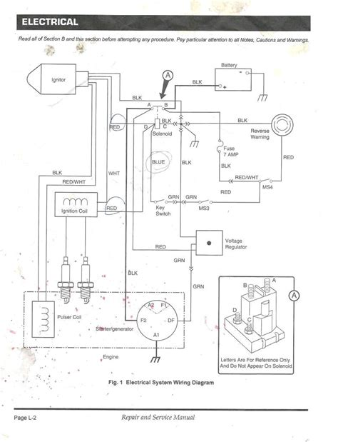 1992 ezgo gas golf cart wiring diagram wiring diagram