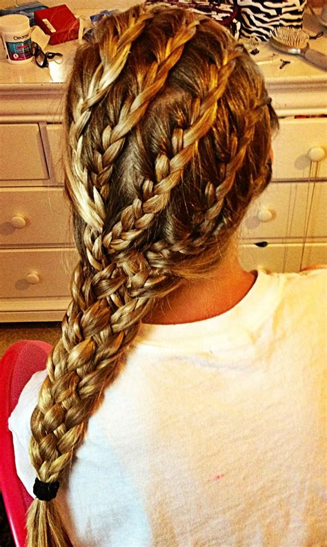 hairstyles with multiple braids multiple braided hairstyle hair pinterest
