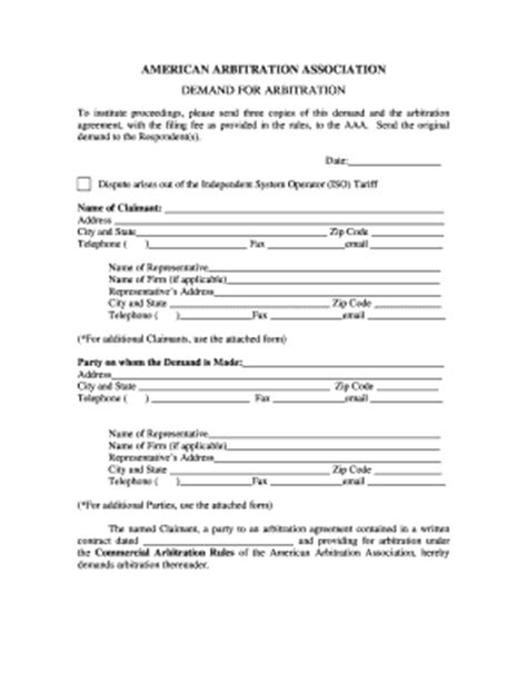Demand Letter Arbitration Letter Of Demand To Respondent In Motor Vehicle Fill Printable Fillable Blank