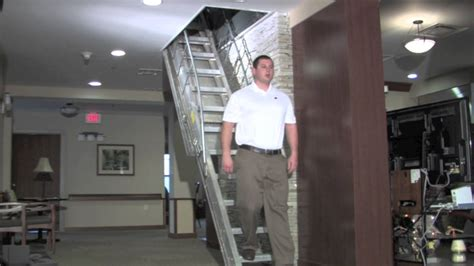precision ladders automatic electric disappearing attic