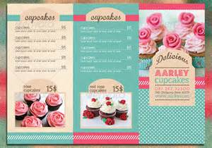 cupcake menu template 14 great tri fold restaurant menu psd templates