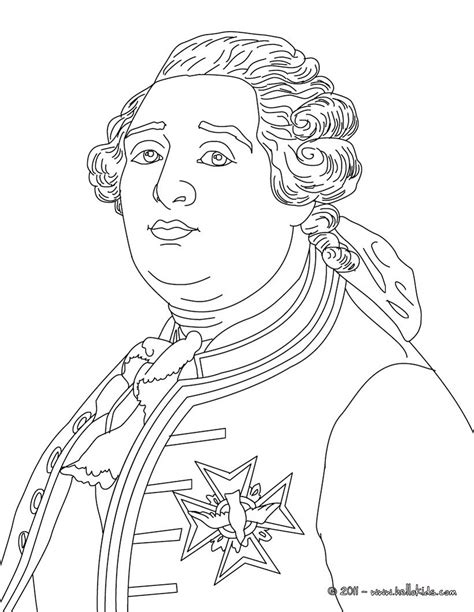 louis xvi king of france coloring pages hellokids com