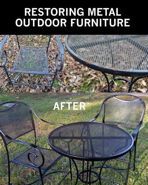restore metal outdoor furniture to quot like new quot
