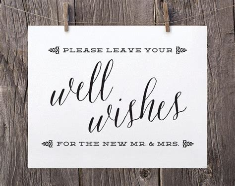 Wedding Wishes Sign by 5x7 Printable Wedding Signs Guest Book Sign Wedding Well