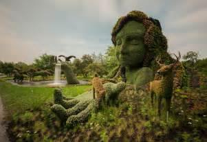 Montréal Botanical Garden Living Plant Sculptures At The Montreal Botanical Gardens