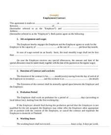 Appointment Letter Employment Agreement Agreement Letter Examples