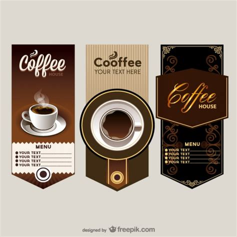 banner cafe design vector the elegant cafe menu price table vector vector free