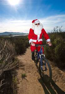 santa goes mountain biking in morro bay 187 santa comes to