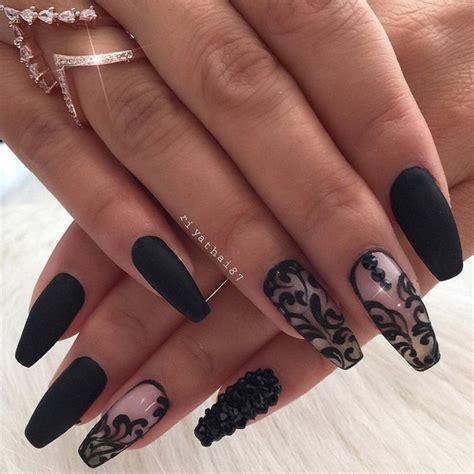 black nails ideas  pinterest black nail
