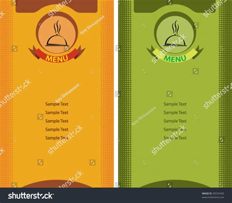menu card design template stock vector illustration