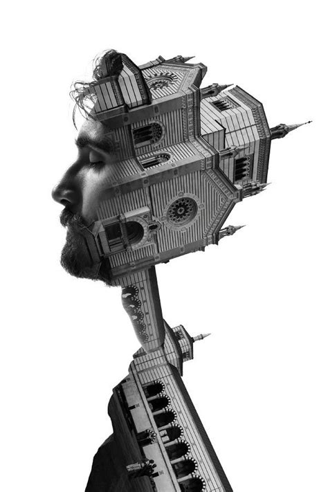 surreal double exposure tutorial milan s architecture and people in surreal double