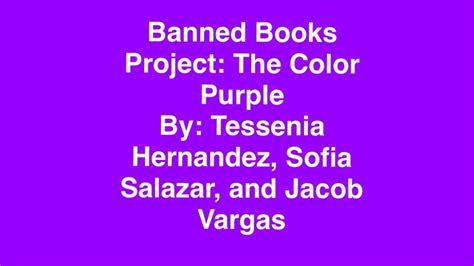 why was the color purple book banned banned books project the color purple