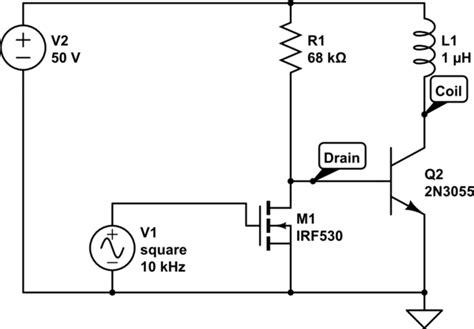 bipolar transistor mosfet driver bjt driving bipolar transistor with mosfet electrical engineering stack exchange