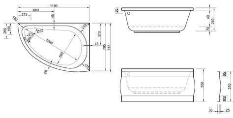 raumspar badewanne 120 raumsparwanne mit sch 252 rze 120 x 81 5 cm asymmetrische