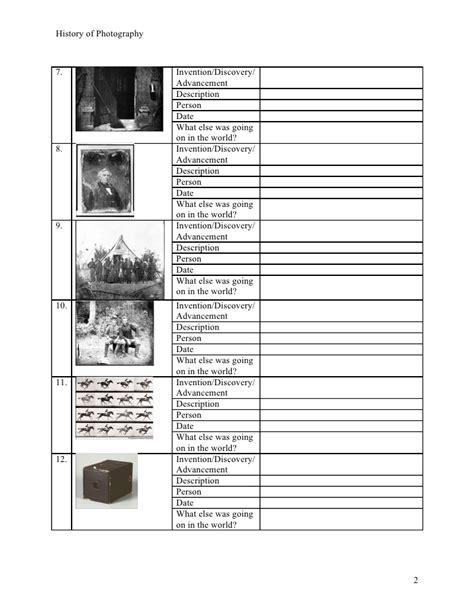 Photography Worksheets by Photography Worksheet Geersc