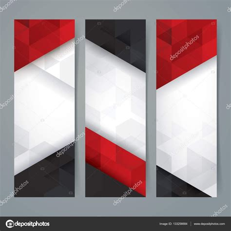foto design flad white red and black abstract background banner stock