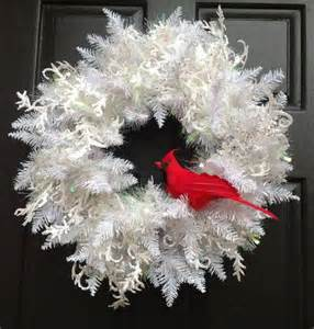 winter white christmas wreath holiday wreath with