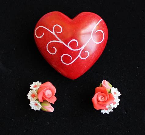orecchini fiori orecchini fiori argilla gioielli orecchini di