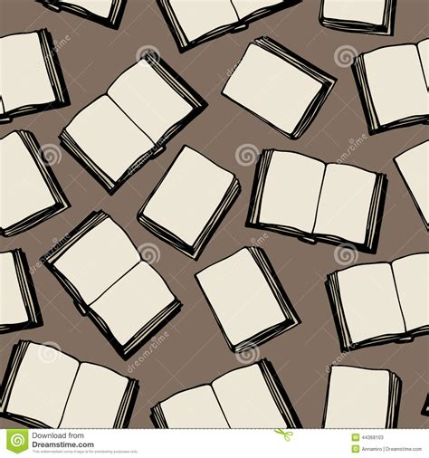 seamless pattern books seamless pattern of books stock vector image 44368103