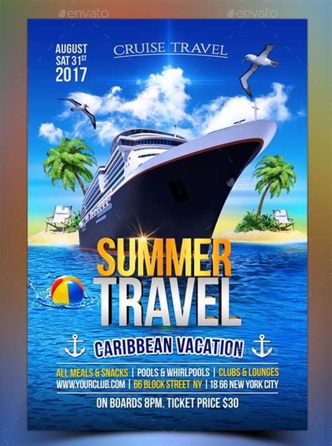 23 Cruise Flyer Templates Free Psd Vector Eps Png Ai Downloads Cruise Flyer Template Free