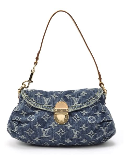 lyst louis vuitton monogram denim mini pleaty handbag