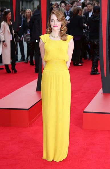 emma stone yellow versace emma stone evening dress evening dress lookbook