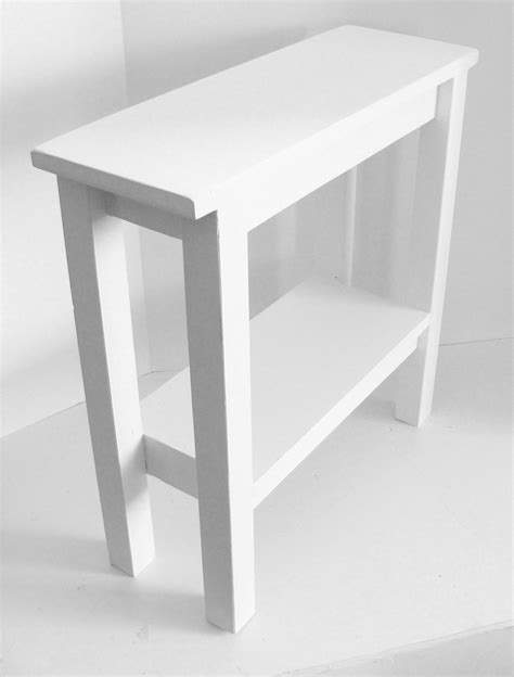 narrow white end table modern narrow table end table side table narrow table