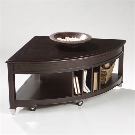 Triangle Shaped Coffee Table Magnussen T1124 Darien Wood Shaped Coffee Table Coffee Tables At Hayneedle