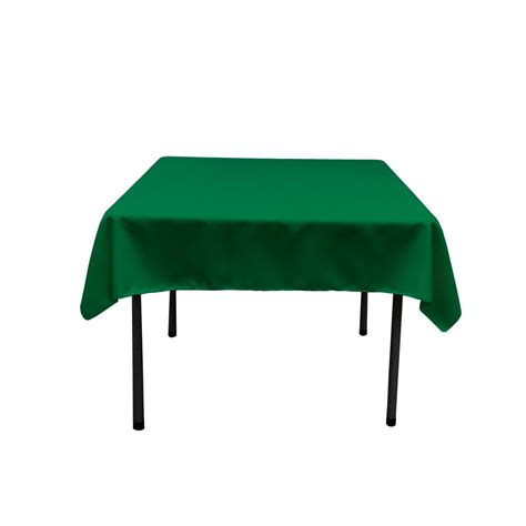 52 square table cloths la linen 52 in by 52 in emerald green polyester poplin
