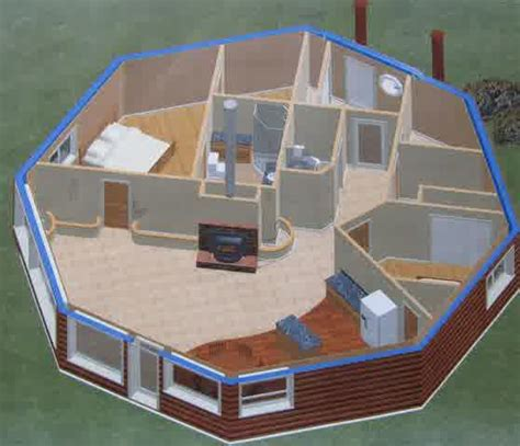 Octagon Cabin Plans unique cabin plans with one bedroom homesfeed