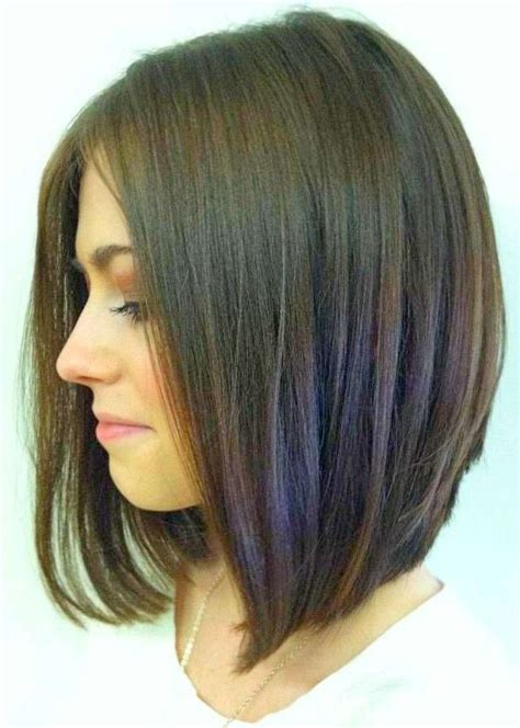 long hair but shorter in back long slightly angled bob short hairstyle 2013