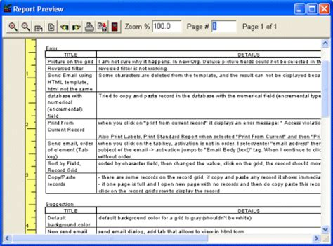 bug report template xls print bug tracker reports