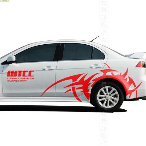 mitsubishi lancer stickers cool cool wtcc style car styling fashion sportive stickers