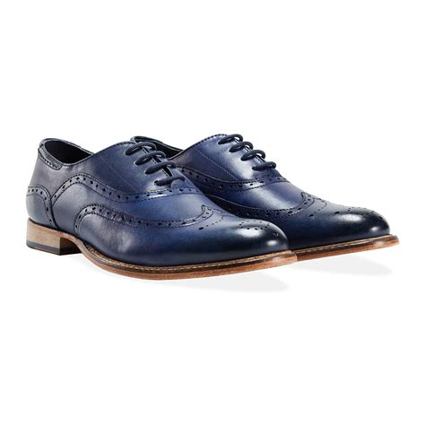 Handmade Shoes Brisbane - brisbane brogue blue uk 6 goodwin smith touch of
