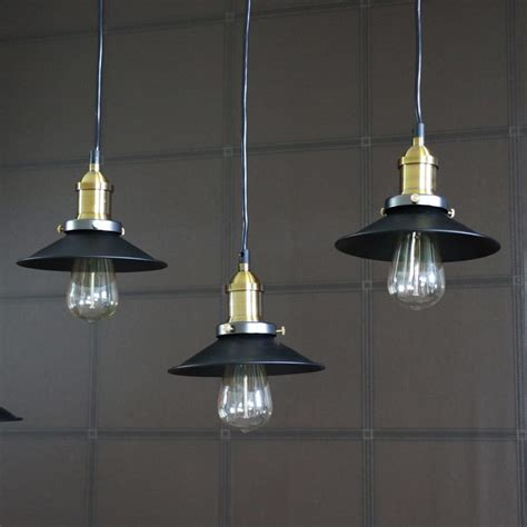 Black Metal Ceiling Pendant Cluster 5 Light Shabby Vintage Metal Ceiling Light