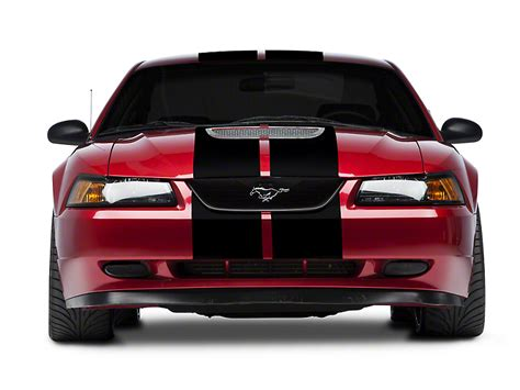 2001 mustang racing stripes american graphics mustang black gt500 style stripes