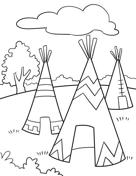 preschool indian coloring page native american activity sheets for kids tagged with