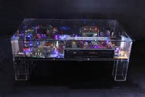 table basse a led artist turns digital waste into sparkling small