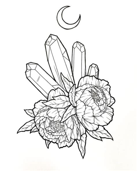 tattoo design drawings tumblr peony drawing www pixshark images galleries