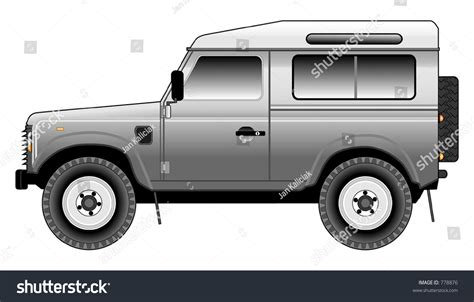 land rover defender vector land rover defender 90 csw tinted stock vector 778876