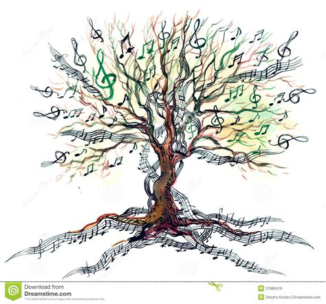 musical tree musical tree royalty free stock images image 21880419