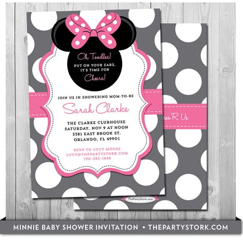 minnie mouse baby shower invitations templates minnie mouse baby shower invites baby shower minnie mouse