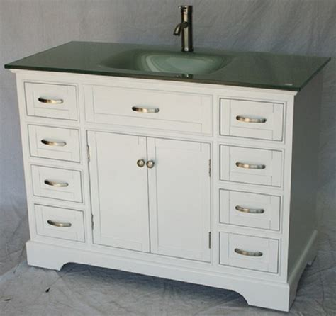 46 inch bathroom vanity transitional shaker white color