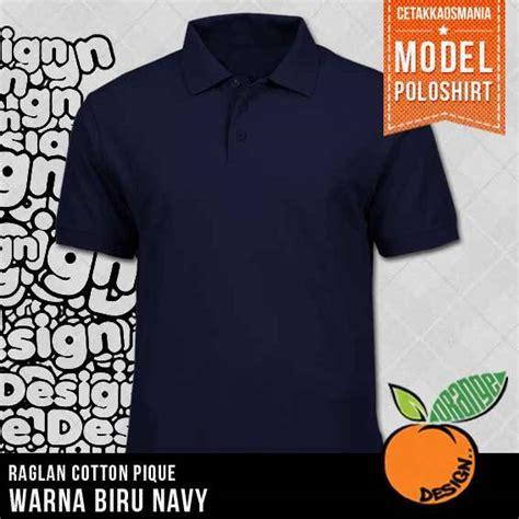 Kaos Polos Cotton Mambo Navy kaos polo kerah polos dengan bahan cotton combat pique