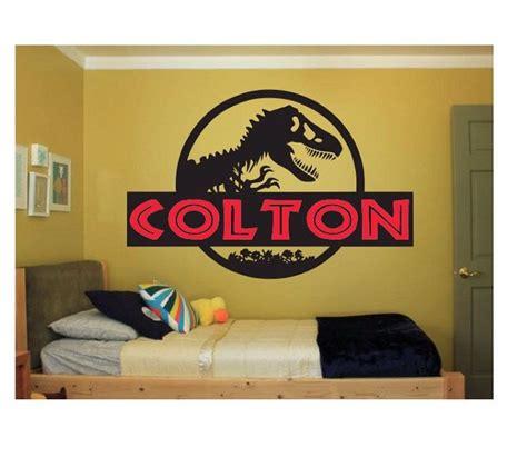 dinosaur name wall decal sticker large kids bedroom big