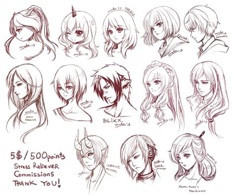 hairstyles for anime characters 42 best images about anime hair styles on pinterest