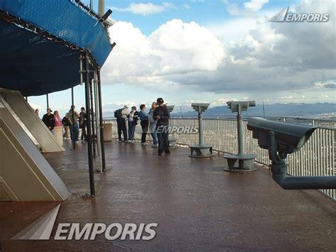 stratosphere observation deck outside observation deck stratosphere tower las vegas