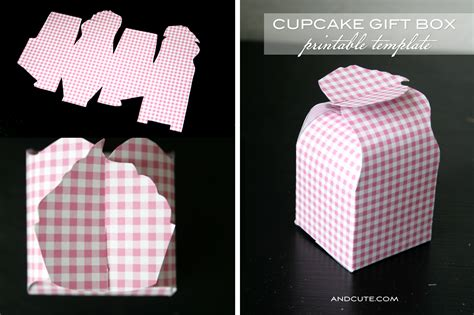 free cupcake box template pin vector set of nine outlines cake on